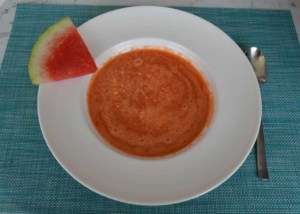 Wassermelonen Kaltschale