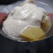 Apfel-Birnenkompott mit Quark