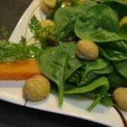 Herbstalat mit Süsskartoffeln und Maron