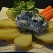Kartofflen mit Kräuterfischkäse