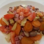 Borlottibohnen mit Gemüse
