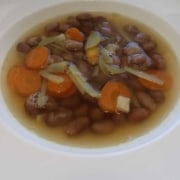 Borlottibohnensuppe