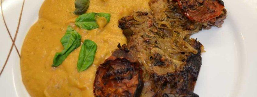 Lamm mit Kartoffel Gemüse Püree