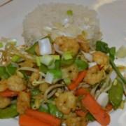 Asiatische Crevettenpfanne