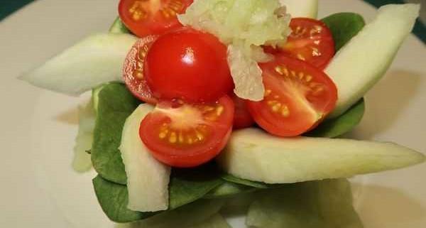 Gurrkenmelone Salat