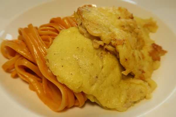 Picata Milanese mit Tomatenspaghetti