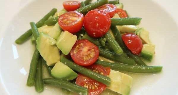 Bohnen Tomaten Avocado Salat