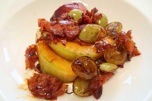 Gebratene Früchte mit Chorizo