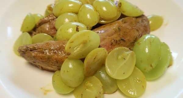 Lammfilet mit Trauben