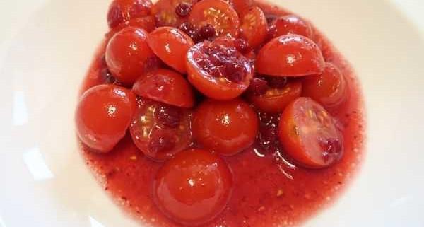 Tomaten Preiselbeer Salat
