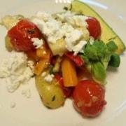 Gemüseteller mit Zitronenfeta