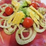 Bündnerfleisch mit Tomaten Fenchel Mais