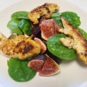 Feigen Spinat Salat mit Pouletfilets