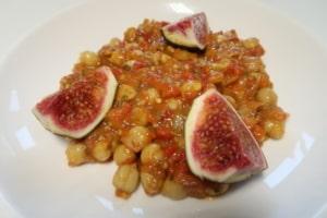 Kichererbsen mit Tomaten Auberginensauce