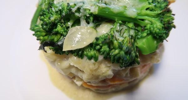 Gemüsegratin mit Topinambur Karotten und Broccoli
