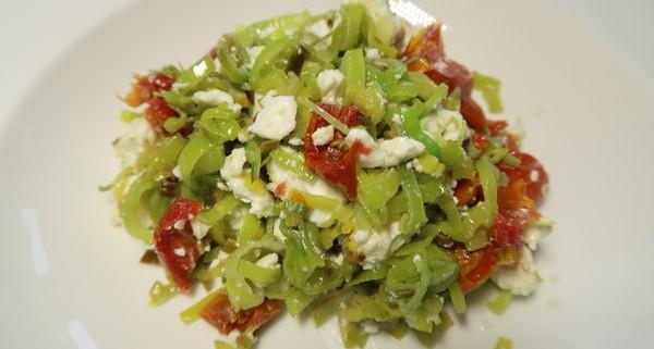 Lauch Dörrtomaten Feta Salat
