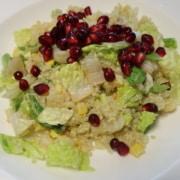 Quinoasalat mit Granatapfelkernen