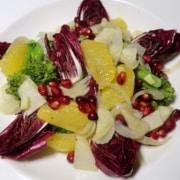 Lauwarmer winterlicher Salat