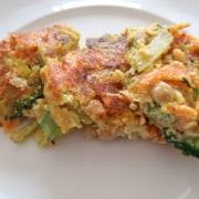 Gemüse Kichererbsen Omelett