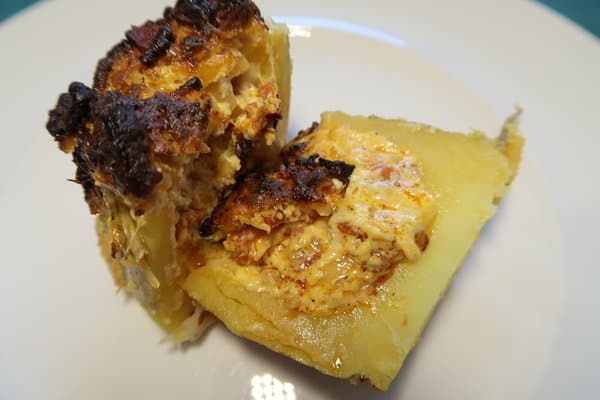 Ofenkartoffel mit Chorizofüllung