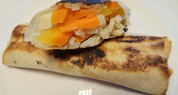 Sellerie Karotten in Brikteig gehüllt