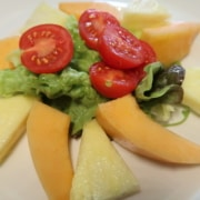 Ananas Melonen Tomaten Salat