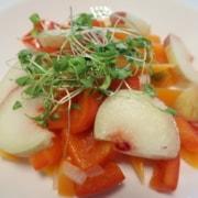 Karotten Peperoni Pfirsich Salat