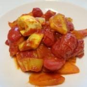 Jackfruitragout mit Tomaten und Karotten