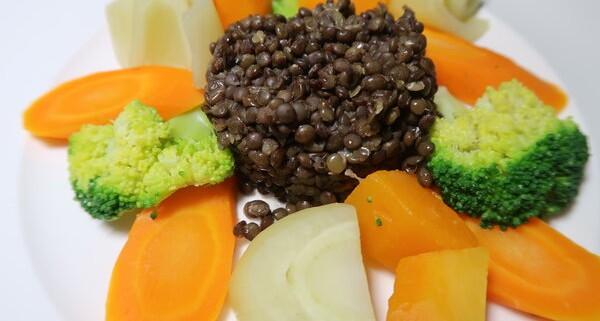 Linsen mit herbstlichem Gemüse