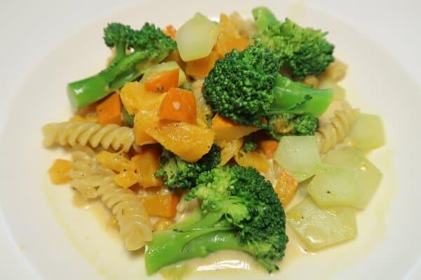 Broccoli Kürbis mit Teigwaren