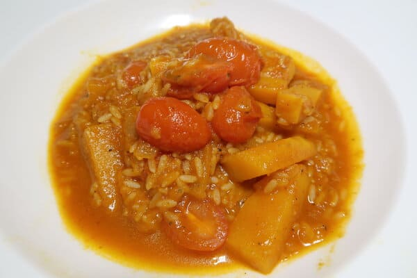 Kürbis Tomaten Risotto