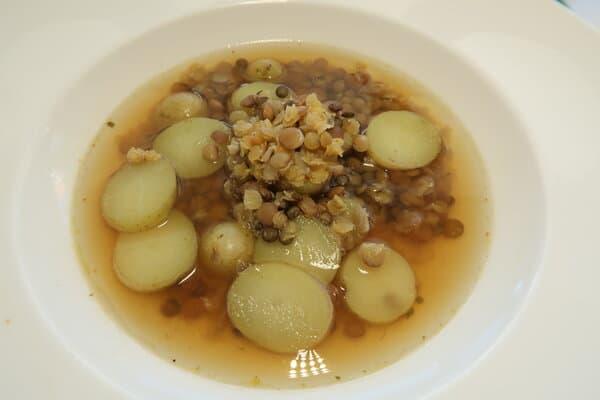 Linsen Kartoffelsuppe