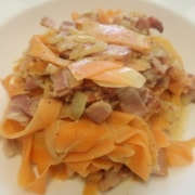 Karottenspaghettiti a la Carbonara