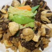 Gemüse mit Pilzragout