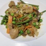 Gemüse mit Schweinefilet